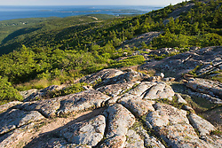 Glacial striations on Cadillac Mountain in Maine USA