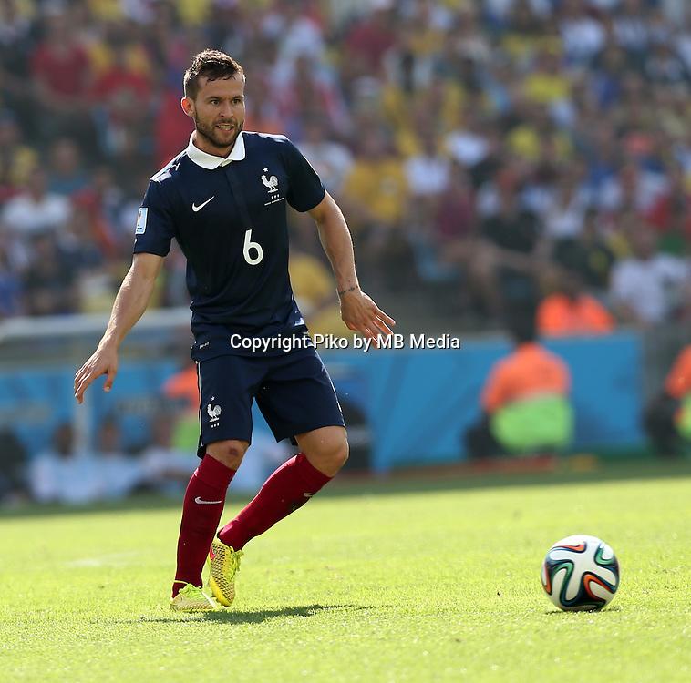Fifa Soccer World Cup - Brazil 2014 - <br /> FRANCE (FRA) Vs. GERMANY (GER) - Quarter-finals - Estadio do MaracanaRio De Janeiro -- Brazil (BRA) - 04 July 2014 <br /> Here French player Yohan CABAYE<br /> &copy; PikoPress
