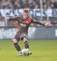 Football: Germany, 2. Bundesliga, 15.02.2014<br />Marcel Halstenberg (FC St. Pauli, #23)<br />?? pixathlon
