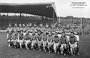 All Ireland Senior Football Championship Final, Kerry v Down, 25.09.1960, 09.25.1960, 25th September 1960, Down 2-10 Kerry 0-8, <br /> <br /> The Down Team <br /> <br /> 26.09.1960, 09.26.1960, 26th September 1960<br /> <br /> Back row (from left) James McCartan, John McAuley, Joe Lennon, Jarleth Carey, P J McElroy, Eamonn Lundy, Leo Murphy, Dan McCartan, Sean O'Neill, Kevin O'Neill, Pat Rice, Eddie Burns, Pat Fitzsimons, Kieran Denvir. Front Row (from left) John Haughian, Eddie McKay, Patsy O'Hagan, Paddy Doherty, Kevin Mussen, George Lavery, Tony Hadden, Brian Morgan, Seamus Kennedy, Eamonn Clements, James Fitzpatrick. <br /> <br /> All Ireland SFC - Final<br /> Down 2-10 | Kerry 0-8<br /> Time: Unknown, Venue: Croke Park<br /> Referee: J. Dowling (Offaly)<br /> Captain: K. Mussen<br /> <br /> Attendance: 87,768