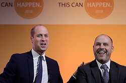 November 20, 2018 - London, United Kingdom - Britain's Prince William, The Duke of Cambridge, with former police officer Edward Simpson, during a panel discussion at the inaugural 'This Can Happen' conference in London.The conference brings together hundreds of delegates from the UK and further afield to share best practice in multiple different mental health fields. (Credit Image: © Pool/i-Images via ZUMA Press)