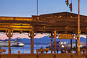 Public Boat Landing, ferry, Olympic Mountains, Seattle, Washington, USA