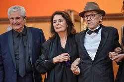 Anouk Aimee, Jean Louis Trintignant, Claude Lelouch attending the premiere of Les Plus Belles Annees D Une Vie during 72nd Cannes Film Festival in Cannes, France on May 18, 2019. Photo by Julien Reynaud/APS-Medias/ABACAPRESS.COM