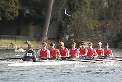 2012.02.25 Reading University Head 2012. The River Thames. Division 1. Kingston Grammar School A J18A 8+
