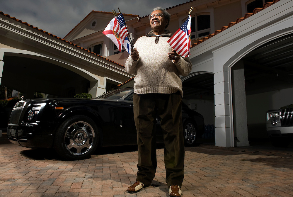 FLspDONKING06i Boxing promoter and controversial figure Don King poses at his house in Manalapan. King is promoting a fight that will take place on Valentines Day Freelance Photo by Josh Ritchie