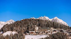THEMENBILD - das Austria Trend Hotel Schloss Lebenberg, aufgenommen am 22. Januar 2016 in Kitzbuehel, Oesterreich // the Austria Trend Hotel Schloss Lebenberg taken on 2016/01/22 in Kitzbuehel, Austria. EXPA Pictures © 2015, PhotoCredit: EXPA/ JFK