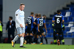 September 14, 2017 - Reggio Emilia, Italy - Wayne Rooney of Everton displeasure during the UEFA Europa League group E match between Atalanta and Everton FC at Stadio Citta del Tricolore on September 14, 2017 in Reggio nell'Emilia, Italy. (Credit Image: © Matteo Ciambelli/NurPhoto via ZUMA Press)