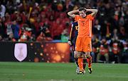 FUSSBALL WM 2010  FINALE   11.07.2010 Holland - Spanien Enttaeuschung Robin VAN PERSIE (Holland)