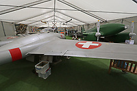 De Havilland DH 100 Vampire FB Mk 6, The de Havilland Aircraft Museum, Salisbury Hall, Shenley, London Colney, Hertfordshire, 24 July 2018, Photo by Richard Goldschmidt,