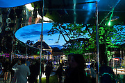 PAVILION, 2009 Serpentine Gallery Summer party. Sponsored by Canvas TV. Serpentine Gallery Pavilion designed by Kazuyo Sejima and Ryue Nishizawa of SANAA. Kensington Gdns. London. 9 July 2009.