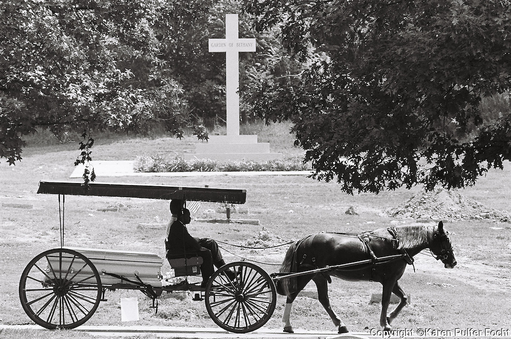Funeral, Burial, horse, buggy.