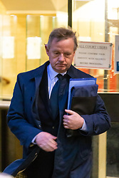 Shoreham air crash pilot Andrew Hill leaves the Old Bailey in London where he is facing 11 charges of manslaughter following the crash of his Hawker Hunter on the A27 at Shoreham during an airshow on August 22nd 2015. London, January 29 2019.