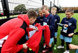Luke Freeman of Bristol City signs autographs for children at Mark Little and Luke Freeman The BCCT EFL Kids Cup - Mandatory by-line: Robbie Stephenson/JMP - 23/11/2016 - FOOTBALL - South Bristol Sports Centre - Bristol, England - BCCT EFL Kids Cup