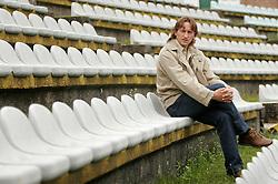 Portrait of Slovenian football player and coach Primoz Gliha, on August 15, 2005, stadium Bezigrad, Ljubljana, Slovenia.  (Photo by Vid Ponikvar / Sportida)