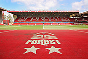 A general view of the stadium before the EFL Sky Bet Championship match between Nottingham Forest and Blackburn Rovers at the City Ground, Nottingham, England on 13 April 2019.