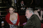 Catherine and David Bailey, Bazaar and Moet  Black, White and Gold party. Ronnie Scott's. Frith St. London. 16 november 2006. ONE TIME USE ONLY - DO NOT ARCHIVE  © Copyright Photograph by Dafydd Jones 66 Stockwell Park Rd. London SW9 0DA Tel 020 7733 0108 www.dafjones.com