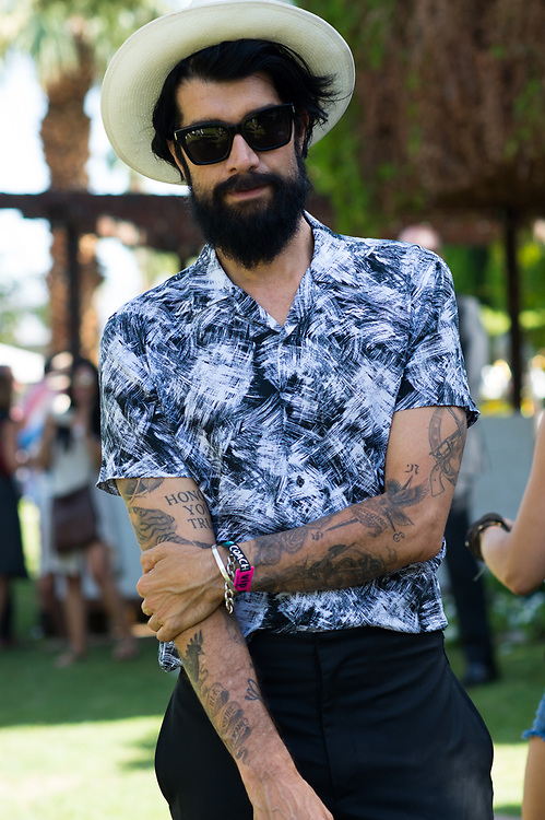 Myles Hendrik at the MAC Coachella 2015 Party