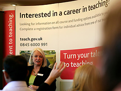 UK ENGLAND LONDON 18NOV08 - June Wagstaff, a teaching consultant for TDA (Training and Devlopment Agency for Schools) speaks at a teacher recruitment fair at the Marriott hotel in Canary Wharf on November 18, 2008 in London, England. Online enquiries into teacher recruitment have increased by 40 percent from 2007 to 2008 for the period from September 1 to October 31 2008...jre/Photo by Jiri Rezac..© Jiri Rezac 2008..Contact: +44 (0) 7050 110 417.Mobile:  +44 (0) 7801 337 683.Office:  +44 (0) 20 8968 9635..Email:   jiri@jirirezac.com.Web:     www.jirirezac.com..© All images Jiri Rezac 2008 - All rights reserved.