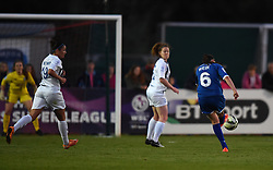 Caroline Weir of Bristol Academy Women takes a shot at the Birmingham goal - Mandatory by-line: Paul Knight/JMP - Mobile: 07966 386802 - 05/09/2015 -  FOOTBALL - Stoke Gifford Stadium - Bristol, England -  Bristol Academy Women v Birmingham City Ladies FC - FA Women's Super League