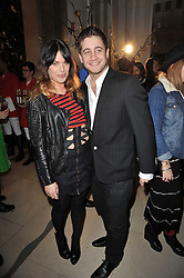 WILLA KESWICK and TYRONNE WOOD at Mulberry's party following their fashion show as part of London Fashion Week Autumn Winter Collection 2011 held at Claridges, Brook Street, London on 20th February 2011.