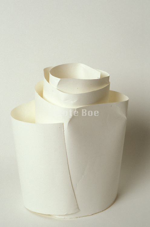 Abstract still life of white paper