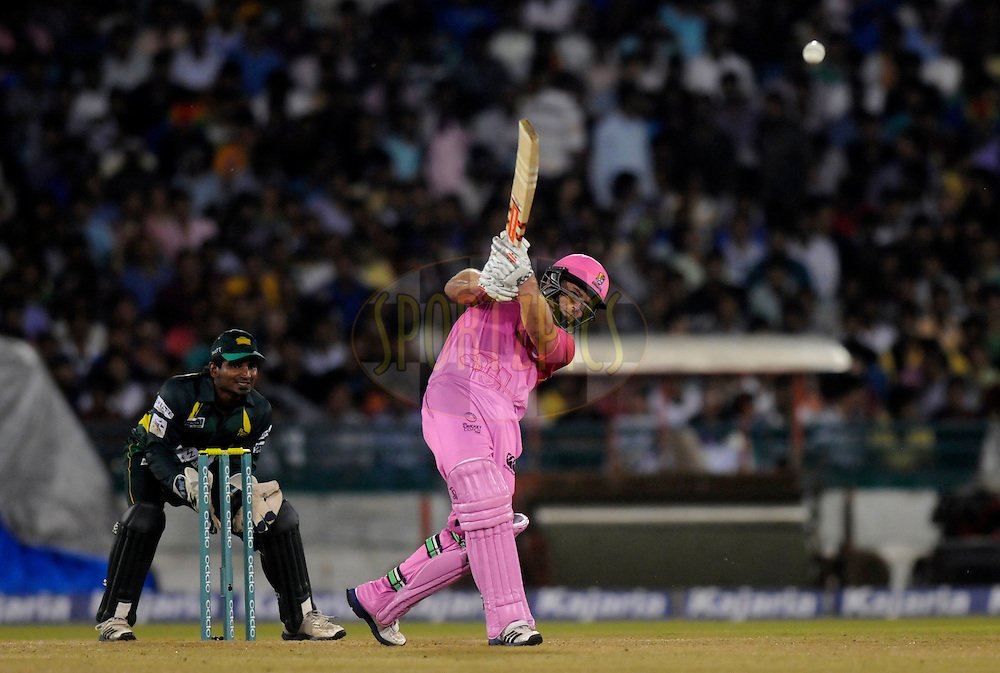 Daniel Flynn of Northern Districts bats during the qualifier 1 match of the Oppo Champions League Twenty20 between the Northern Knights and the Southern Express held at the Chhattisgarh International Cricket Stadium, Raipur, India on the 13th September 2014<br /> <br /> Photo by:  Pal Pillai / Sportzpics/ CLT20<br /> <br /> <br /> Image use is subject to the terms and conditions as laid out by the BCCI/ CLT20.  The terms and conditions can be downloaded here:<br /> <br /> http://sportzpics.photoshelter.com/gallery/CLT20-Image-Terms-and-Conditions-2014/G0000IfNJn535VPU/C0000QhhKadWcjYs