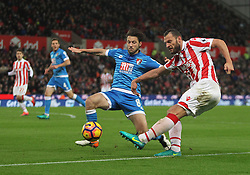 Harry Arter of Bournemouth (L) and Erik Pieters of Stoke City in action - Mandatory by-line: Jack Phillips/JMP - 19/11/2016 - FOOTBALL - Bet365 Stadium - Stoke-on-Trent, England - Stoke City v Bournemouth - Premier League