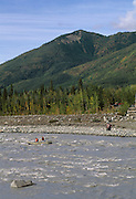 Kennicott River, River, Rafter, Rafting, Cable car, McCarthy, Wrangell St. Elias National Park, Alaska