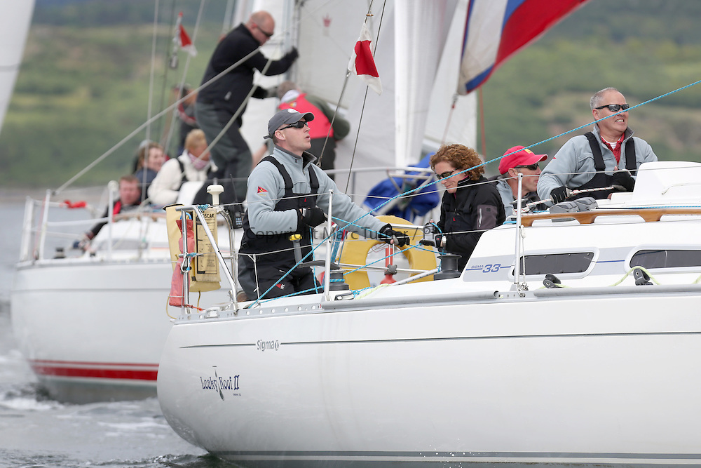 The Silvers Marine Scottish Series 2014, organised by the  Clyde Cruising Club,  celebrates it's 40th anniversary.<br /> Day 1, GBR4607, Leaky Roof II, Harper/Robertson, CCC/Cove SC<br /> <br /> Racing on Loch Fyne from 23rd-26th May 2014<br /> <br /> Credit : Marc Turner / PFM