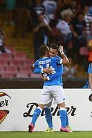 Esultanza dopo il gol di Dries Mertens Napoli con Jose Maria Callejon, goal celebration 2-0 <br /> Napoli 17-09-2015 Stadio San Paolo <br /> Football Calcio UEFA Europa League <br /> Fase a gironi Gruppo D, Group stage Group D. Napoli - Brugge.<br /> Foto Cesare Purini / Insidefoto