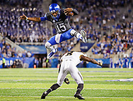 Stephen Johnson.<br /> <br /> The University of Kentucky football team beat Missouri 40-34 on Saturday, October 8, 2017, at Kroger Field in Lexington, Ky.<br /> <br /> <br /> Photo by Elliott Hess | UK Athletics