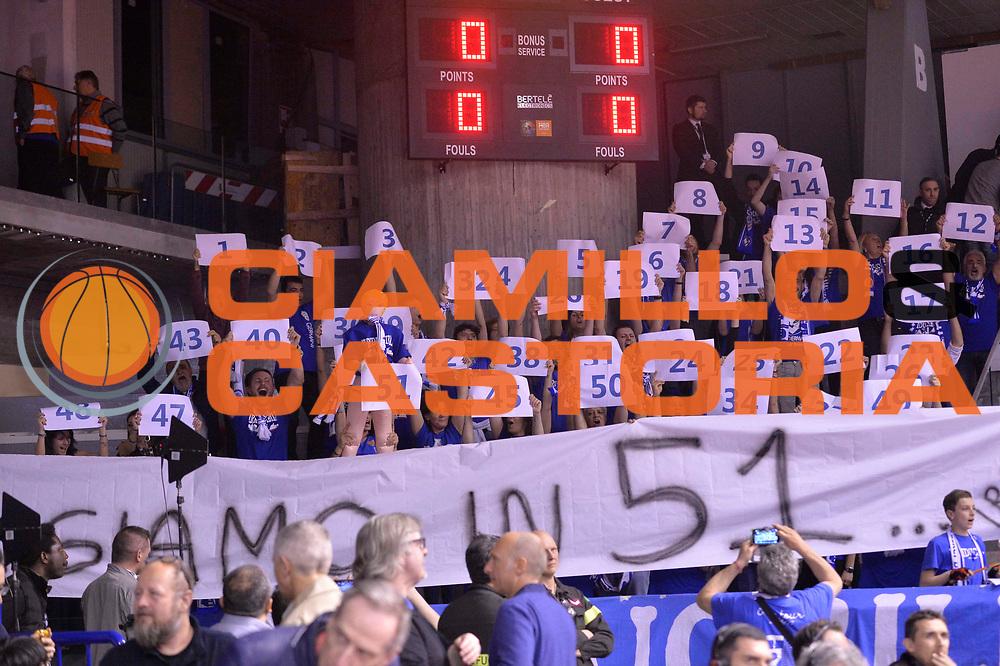 Sport basket serie a reggio emilia - germani brescia<br /> Tifosi Brescia<br /> Legabasket serieA 2016/2017<br /> Reggio Emiliai 27/03/2017<br /> Foto Ciamillo-Castoria