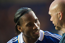 LONDON, ENGLAND - Wednesday, May 6, 2009: Chelsea's Didier Drogba argues with referee Tom Henning Ovrebo during the UEFA Champions League Semi-Final 2nd Leg match against Barcelona at Stamford Bridge. (Photo by David Rawcliffe/Propaganda)