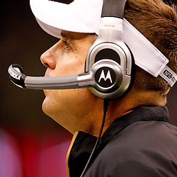 Oct 24, 2010; New Orleans, LA, USA; New Orleans Saints head coach Sean Payton on the sideline during the first half of a game against the Cleveland Browns at the Louisiana Superdome. Mandatory Credit: Derick E. Hingle