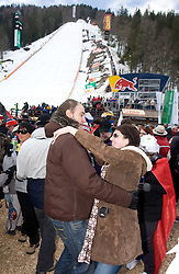 Fans dancing at Flying Hill Team in 3rd day of 32nd World Cup Competition of FIS World Cup Ski Jumping Final in Planica, Slovenia, on March 21, 2009. (Photo by Vid Ponikvar / Sportida)
