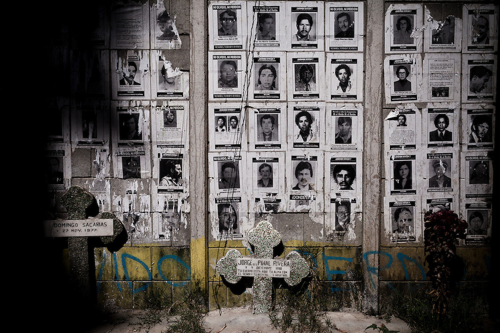 """Exhumation of bodies of the """"disappeared,"""" or """"XX"""" - Sin Nombre - from the civil war, at one of Guatemala's mass graves, at La Verbena Cementary, in Guatemala City, on Tuesday, Nov. 8, 2011. ..During Guatemala's 36-year civil war, about 200,00 people were killed and another 50,000 disappeared and buried in mass graves throughout the country. 93% of human rights abuses were attributed to the military. Today, young forensic anthropologists exhume bodies and unearth their country's violent past."""