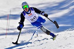 MISAWA Hiraku, LW2, JPN, Slalom at the WPAS_2019 Alpine Skiing World Cup Finals, Morzine, France