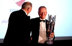Bristol Rugby chairman Chris Booy presents Bristol Sport Founder Steve Lansdown with a replica of the Championship Rugby Trophy - Mandatory by-line: Robbie Stephenson/JMP - 08/12/2016 - SPORT - Ashton Gate - Bristol, England  - Bristol Sport Gala Dinner