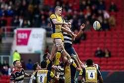 Dewald Potgieter (capt) of Worcester Warriors and Ben Glynn of Bristol Rugby - Rogan Thomson/JMP - 26/12/2016 - RUGBY UNION - Ashton Gate Stadium - Bristol, England - Bristol Rugby v Worcester Warriors - Aviva Premiership Boxing Day Clash.