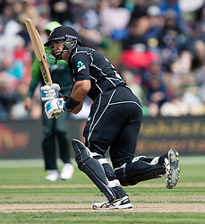New Zealand's Ross Taylor scores runs against Pakistan in the third one day cricket international at the University of Otago Oval, Dunedin, New Zealand, Saturday, January 13, 2018. Credit:SNPA / Adam Binns ** NO ARCHIVING**