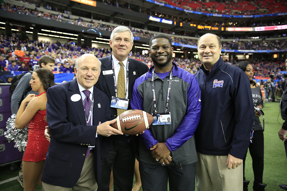 Dec 31, 2014; Atlanta , GA, USA; <br /> in the 2014 Peach Bowl at the Georgia Dome. Mandatory Credit: Paul Abell/CFA Peach Bowl Pool Photo via USA TODAY Sports