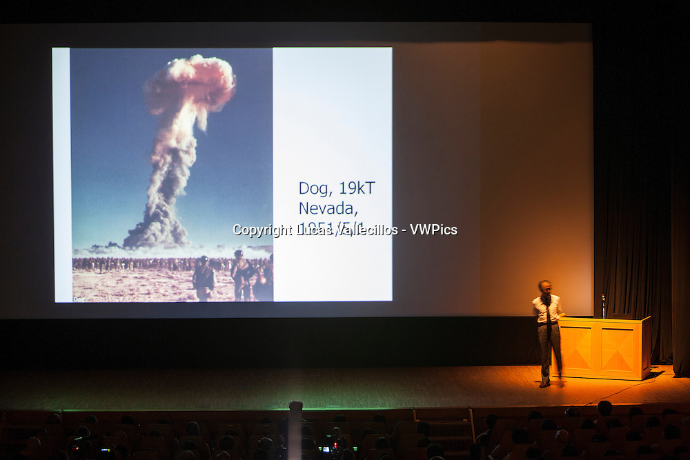 Antinuclear conference by Hiroaki Koide, prestigious nuclear engineer from Kyoto university.In Yoyogi hachiman kamin kaikan.Tokyo.Japan.