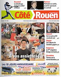 Maxime Lefevre, Coté Rouen Magazine, 2016.