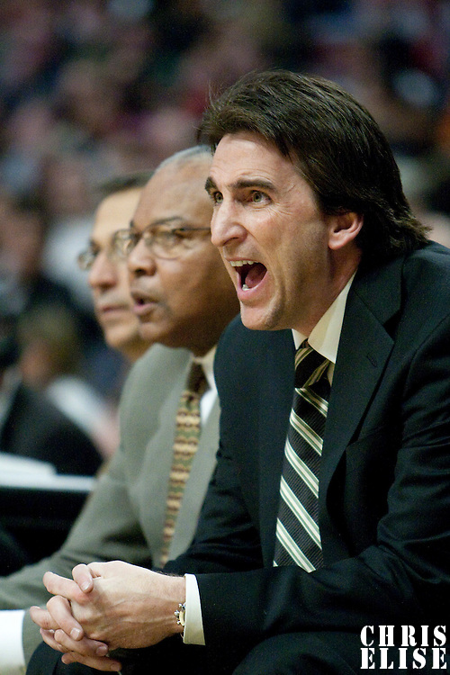 17 january 2009: Vinny Del Negro, head coach of the Chicago Bulls, is seen during the San Antonio Spurs 92-87 victory over the Chicago Bulls, at United Center, Chicago, Illinois, USA.