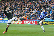Sheffield Wednesday defender, on loan from Watford, Daniel Pudil crosses the ball in during the Sky Bet Championship match between Sheffield Wednesday and Brentford at Hillsborough, Sheffield, England on 13 February 2016. Photo by Simon Davies.
