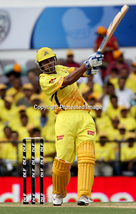 Chennai Super Kings Batsman Murli Vijay Hit The Shot Against Deccan Chargers  During The Indian Premier League - 42nd match Twenty20 match  2009/10 season Played at Vidarbha Cricket Association Stadium, Jamtha, Nagpur 10 April 2010 - day/night (20-over match)