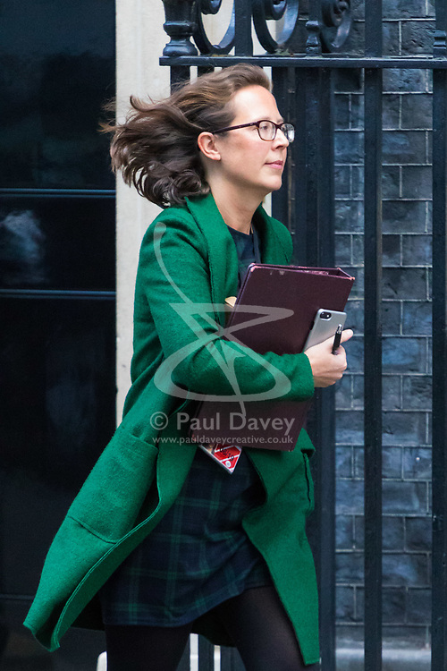 London, January 16 2018. Leader of the House of Lords Baroness Evans leaves the UK cabinet meeting at Downing Street. © Paul Davey