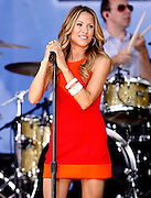 """NEW YORK - JULY 23:  Singer Sheryl Crowperforms on ABC's """"Good Morning America"""" at Rumsey Playfield on July 23, 2010 in New York City.  (Photo by Joe Kohen/WireImage)"""