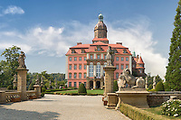 Schloss Fürstenstein im Waldenburger Bergland in Schlesien