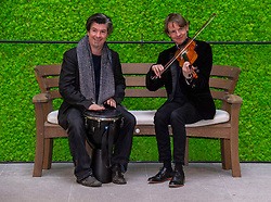 Pictured: Adam Sutherland (fiddle) and James MacKintosh (Djemba drum)<br />